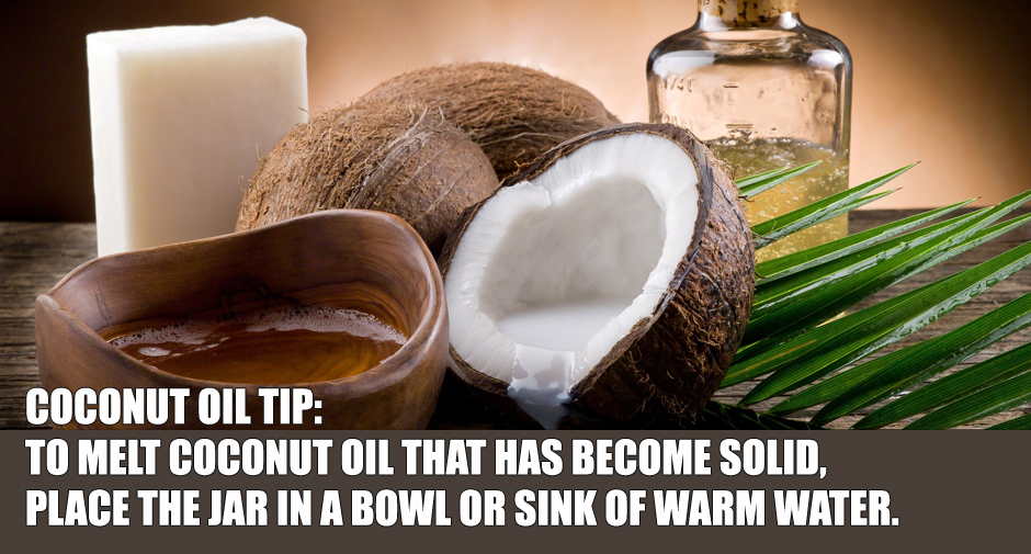 How to Melt Coconut Oil When It's Solid